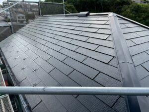 屋根塗装施工完了
