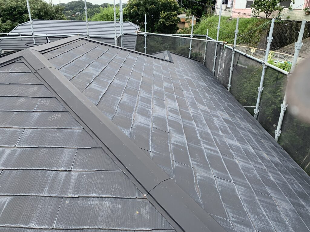 屋根高圧洗浄前